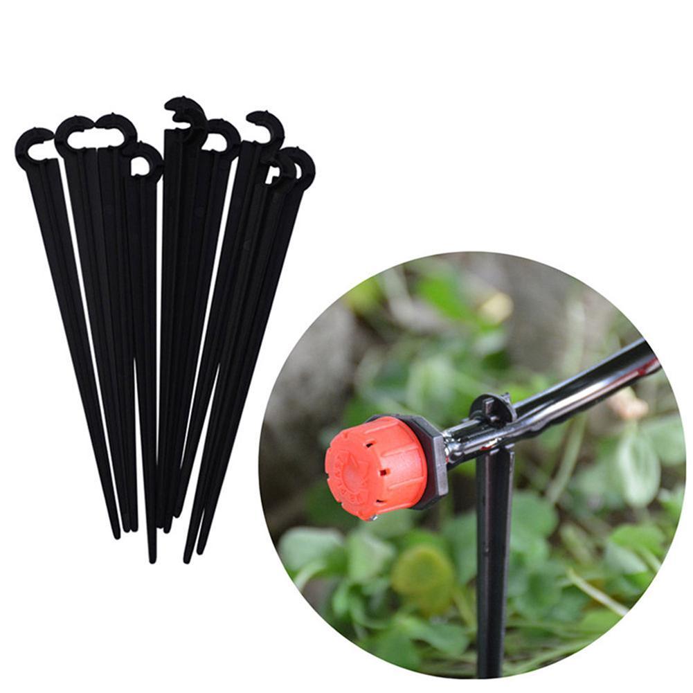 Home & Garden Earnest Hot 50pcs Plastic Hook Fixed Stems Support Holder For 4/7 Drip Irrigation Water Hose