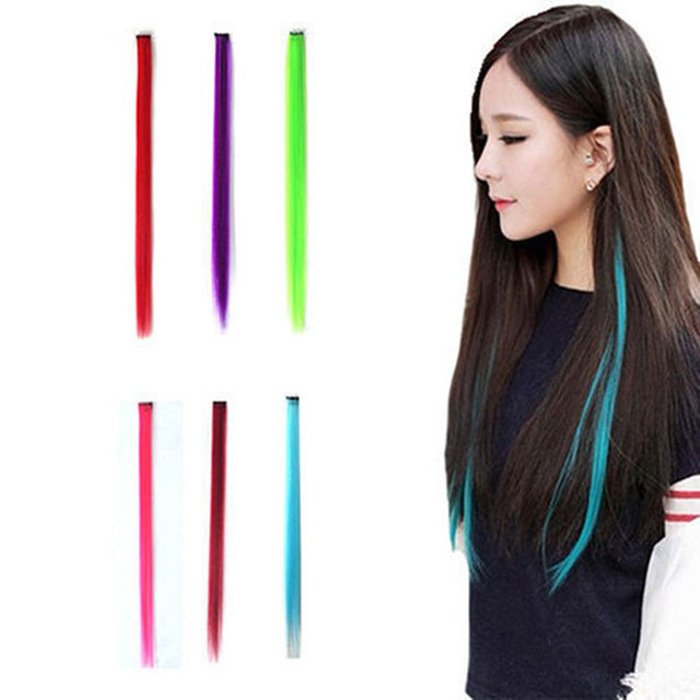 Online Shop 12 Colors 55cm Fashion Party Diy Long Straight Synthetic