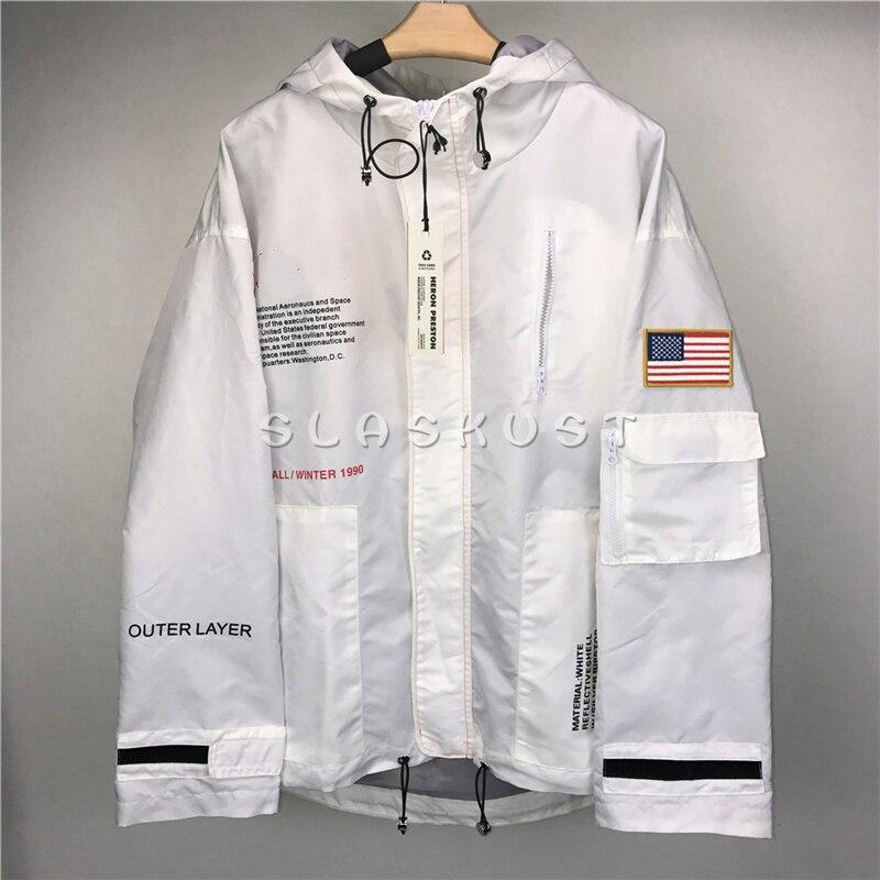 27b016900d9ca Military Embroidered Flag Tracksuit Windbreaker Elasticized Drawstring  Raglan Sleeve Hooded Jacket