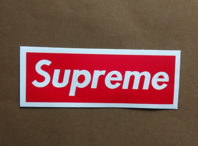 Bulk 30pc supreme sticker classic box logo skateboard luggage car bumper vinyl decal laptop waterproof stickers