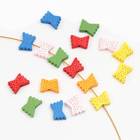 30pcs Wooden Beads Butterfly Styles Spacer Beading 20x14mm Toys For Baby DIY Kids Toys Makeing Bracelet Necklace