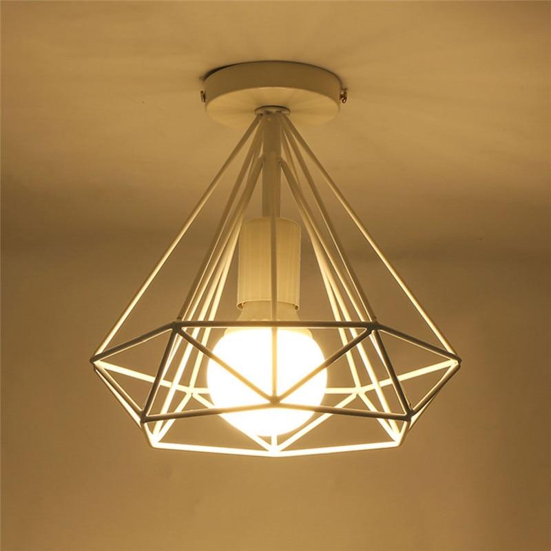 HTB1PmSQX79E3KVjSZFrq6y0UVXac 20cm Vintage Industrial Rustic Flush Mount Ceiling Light Black / White Metal Lamp Fixture Nordic Style Creative Retro Light Lamp