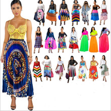 22 Best-selling, Uniquely Styled Printed Pleated Skirts with Skirts. Satin Making Casual Summer