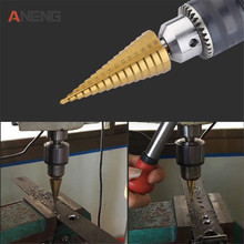 цена на 1pc 4-12/4-20mm HSS Spiral Center Step Drill Bit Solid Carbide Mini Drill Accessories Titanium Step Drill Bit