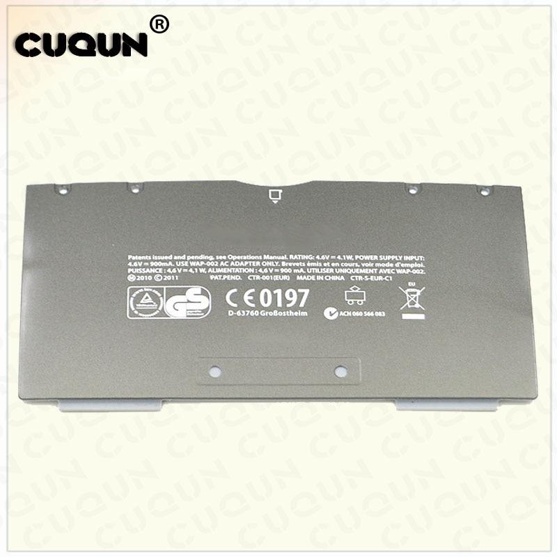 Original EU Version Battery Cover Case for Nintend 3DS Back Battery Cover Shell for 3DS Host Metal Black Color