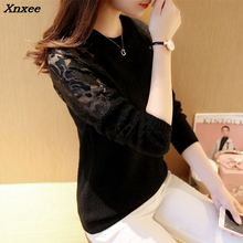 Xnxee autumn and winter new womens clothing, Korean collar, lace, knitted sweater, sweater
