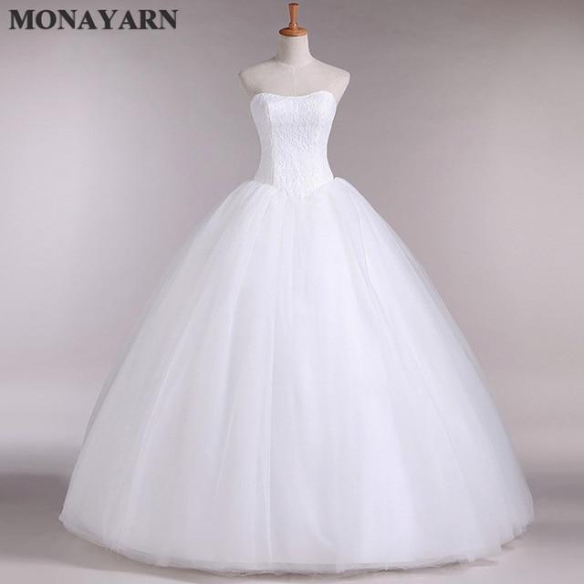 2017 hot Echt Probe Benutzerdefinierte Plus Size Hochzeitskleid ...