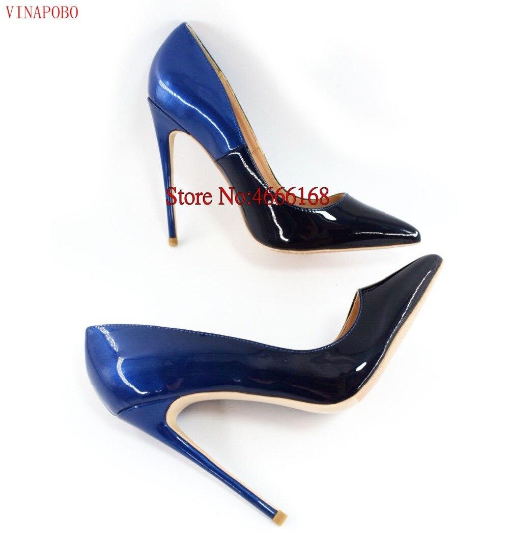 Brand Shoes Woman High Heels Pumps High Heels 12CM Women Shoes Wedding Shoes Pumps Black Blue