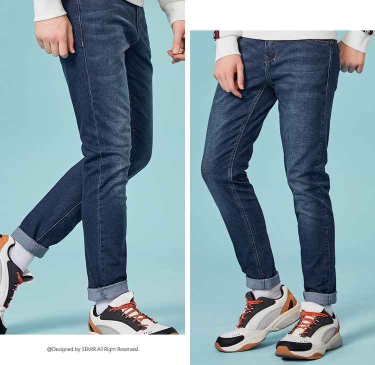 HTB1PmTJaovrK1RjSspcq6zzSXXaP - SEMIR jeans for mens slim fit pants classic jeans male denim jeans