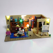 JULITE LED light kit (only light included) for lego 21302 and 16024 Big Bang Theory Blocks Set (blocks set not included)