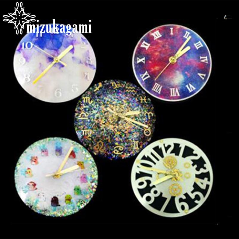 UV Resin Jewelry Liquid Silicone Mold Constellation Roman Numerals Zodiac Clock Silicone Mold Epoxy Resin DIY Jewelry Making