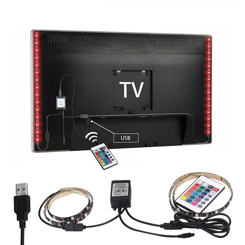 2X50 cm USB RGB LED Streifen 5050 SMD Wasserdichte Flexible GEFÜHRTE hintergrundbeleuchtung TV Kit Zoll-lcd-flachbildschirm Desktop Computer LED TV hintergrundbeleuchtung