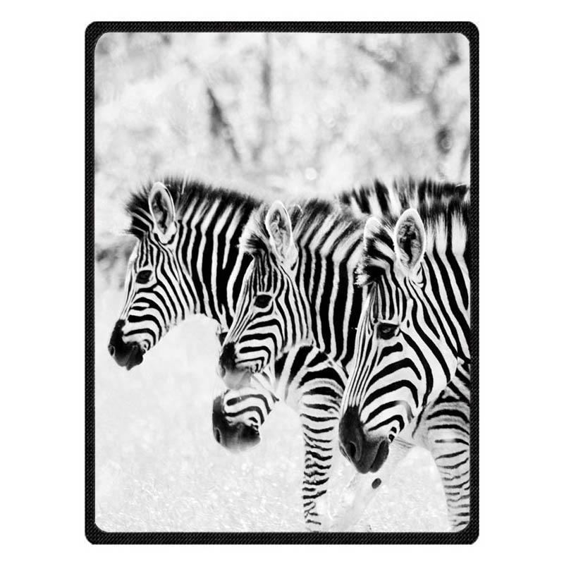 Adult Autumn Winter Summer Spring Warm Blanket Super Soft Coral Fleece Bed Sofa Zebra Pattern Blanket