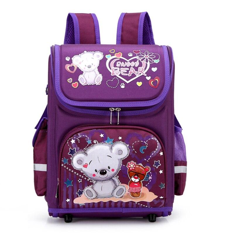 New Girls School Backpack 3D Cartoon Orthopedic Primary School Bags Girls 6-10 Years Children Bookbag Kids Satchel Knapsack Girl