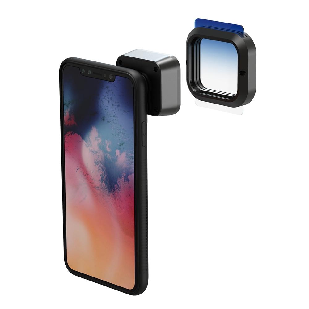 Moveski pran 1.33x lente anamorphic câmera do telefone celular grande scree lente filme telefone óptico lente para iphone android smartphone