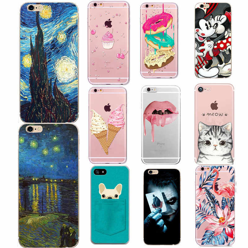 Telefoon Case Voor Iphone 6 s Case Zachte TPU Silicone Case Voor Coque Apple iPhone 5 5 S SE 6 6 S 7 8 Plus X XS Telefoon Back Cover Shell