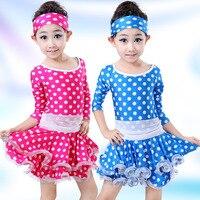 Yeni Çocuklar Modern Balo Salonu Dans Kostüm Uzun Kollu Kızlar Latin Dans Elbise Çocuk Bale Tutu Dans Kostüm Ücretsiz Kargo 16
