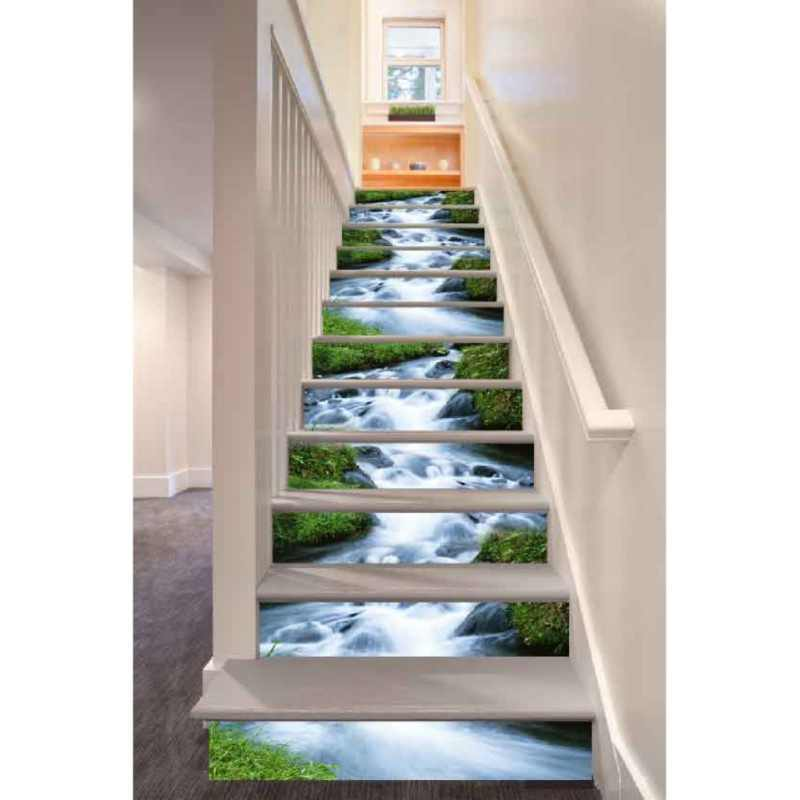 3D Self-adhesive Landscape Pattern Stair Sticker DIY Wall Decal Mural Wallpaper Removable PVC Decals Paper Wall Art Decor