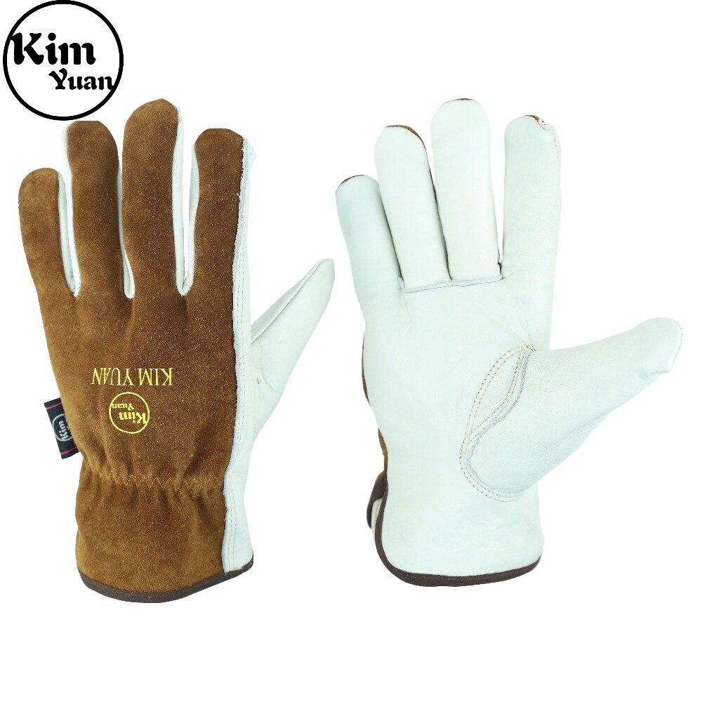 KIM YUAN Work Gloves with Elastic Wrist for Men&Women-Good Grip&Flexible for Riding/Truck Driving/Warehouse/Gardening/FarmingKIM YUAN Work Gloves with Elastic Wrist for Men&Women-Good Grip&Flexible for Riding/Truck Driving/Warehouse/Gardening/Farming