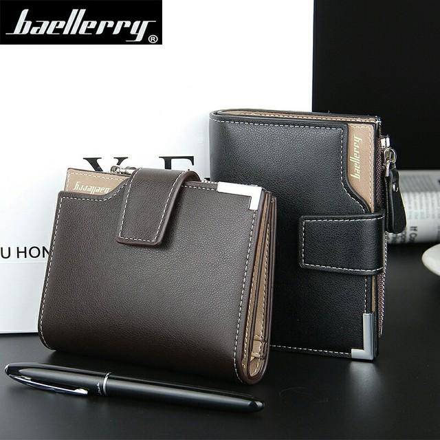 Wallet Baellerry brand Short men Wallets PU Leather male Purse Card Holder Wallet