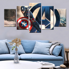 5 panel modular wall art Avengers poster canvas painting for modern home decor living room bedroom mural все цены