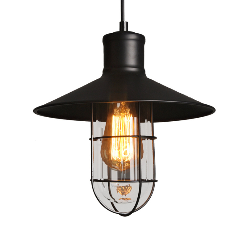 Fashion Vintage Wire Lamp Cage DIY Lampshade Industrial Lamp Guard Cage Lamp Shade Guard Classic Black Nordic Bulb Cover frled pendant light loft bar nordic classic black bulb wire lamp cage diy lampshade industrial guard shade lamparas