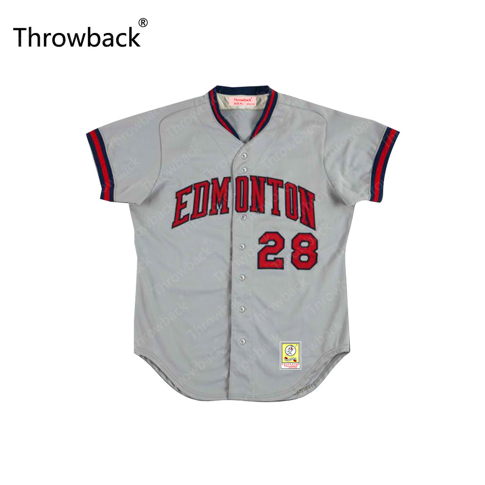 c9f02d626 Edmonton Trappers Any Player or Number Throwback Movie Baseball Jersey  S-5XL Stitched