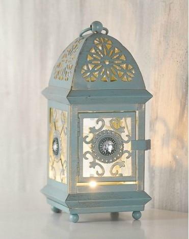 free shippinghome decoration french retro finishing chalybeate small hurricane lantern decorationwedding decor - Decorative Lanterns
