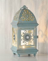 Home decoration French retro finishing chalybeate small hurricane lantern decoration.wedding decor