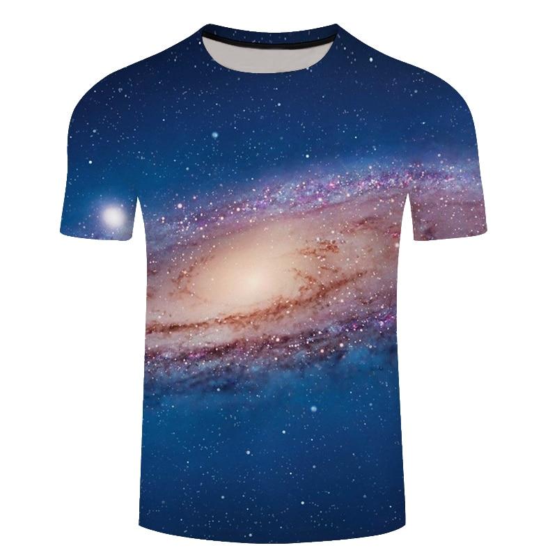 Brand galaxy T shirt Space T-shirts nebula Tshirt Short sleeves shirts rock t shirt men clothing fitness 3d anime t shirts