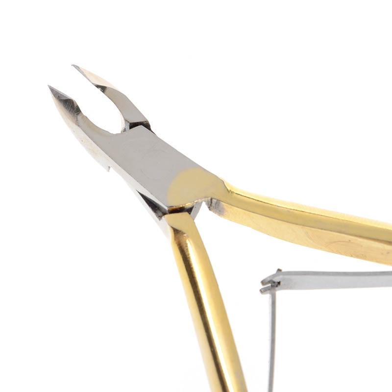 1 Pc Ouro Nail Cuticle Nipper Clipper Borda Cortador Manicure Aço Inoxidável Tesoura Alicate Morto Removedor de Pele Morta