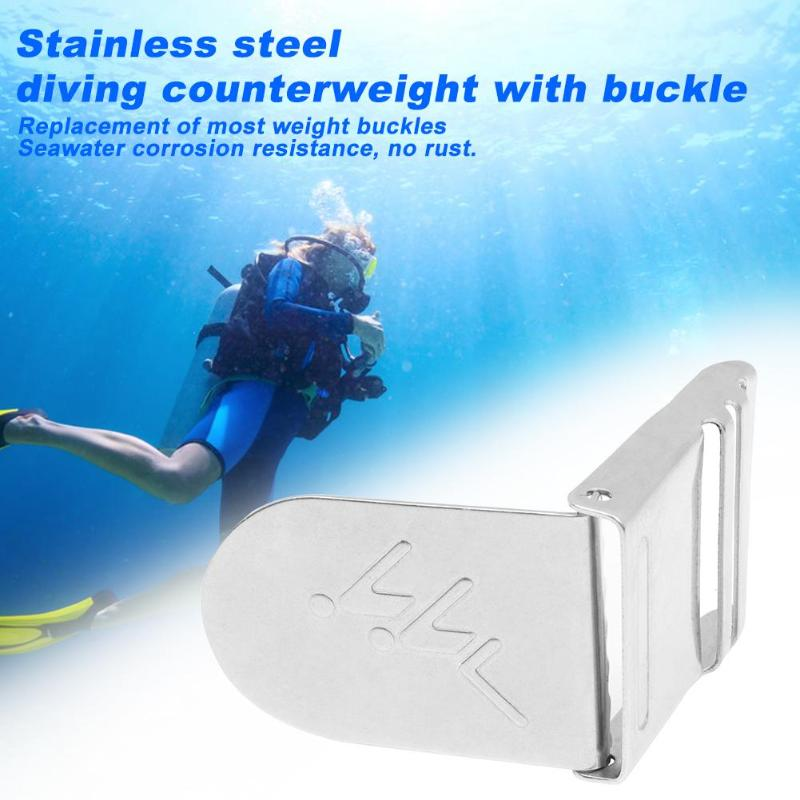 1pc Quick Release Scuba Diving Weight Belt Buckle New And High Quality Simple And Generous Stainless Steel For Underwater
