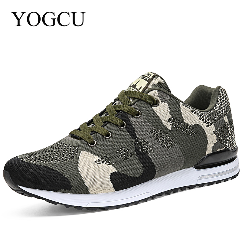 YOGCU Camouflage Style Running Shoes Unisex Outdoor Sport Shoes Breathable Womens Sneake ...