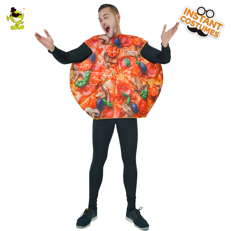 QLQ New Arrival  Men's Pizza Costume Party Funny Sandwitch Food Fancy Dress Pizza costume performance Halloween Party