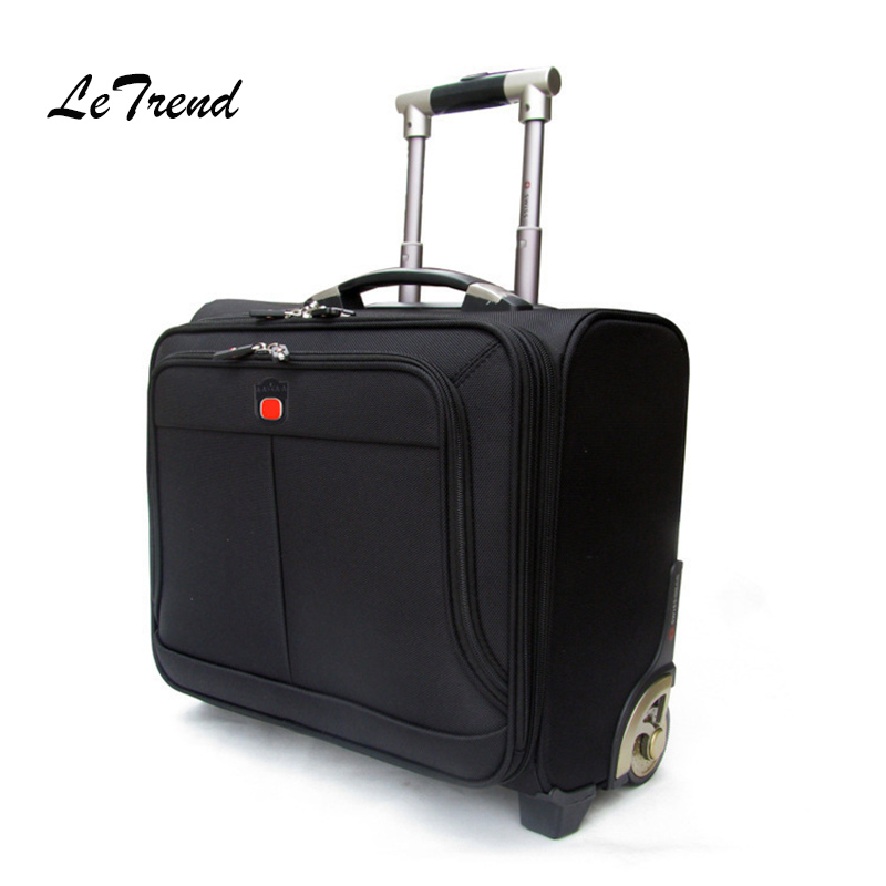 Letrend Business Leisure Rolling Luggage Casters Oxford Trolley 18 inch Women Carry On Luggage Wheels Suitcases Travel Bag Men step puzzle обучающая игра мемо медвежонок винни page 2 page 2