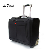 Letrend Business Leisure Rolling Luggage Casters Oxford Trolley 18 inch Women Carry On Luggage Wheels Suitcases Travel Bag Men