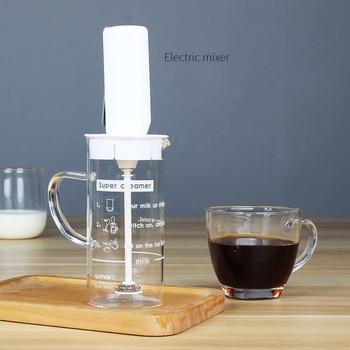 Batidora De Mano Eléctrica | Batidor De Leche Eléctrico Batidor De Leche De Mano Mezclador De Cocina Para Cappuccino Café Batidor De Huevos Bebidas Licuadora Con Taza