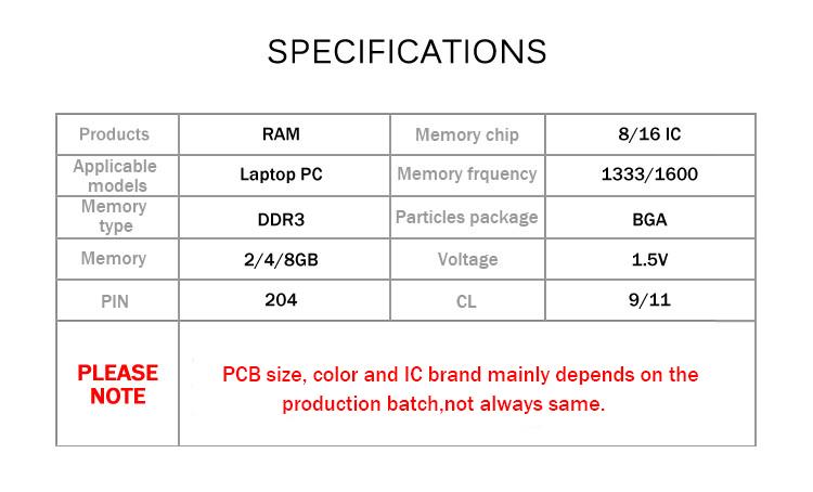 DDR3 2 4 8GB 1333 1600