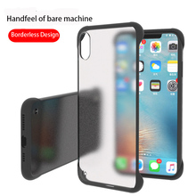 Frameless Transparent Matte Hard Phone Case For iPhone X  7 6 6S 8 Plus Cover XS Max XR