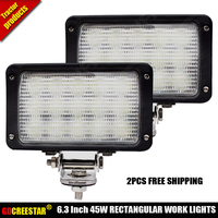 Freeship Case Tractor accessories lights OEM 92266C1 New Holland 9846125,9846126,82014951,710768014 45W led tractor lights x2pcs