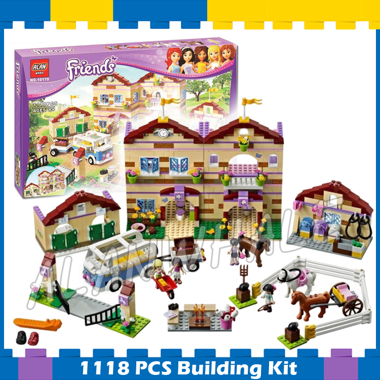 1118pcs Friends Heartlake Summer Riding Camp 10170 Horses Champion Foxy Sunshine Model B ...