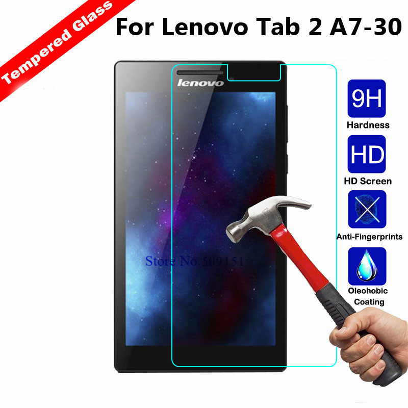 Tempered Glass For Lenovo Tab 2 A7-10 A7-10F A7-20 A7-20F A7-30 A7-30HC A7-30DC Tab2 A7 20 30 Screen Protector Tablet Film Glass