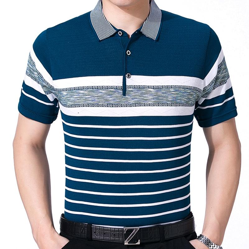 2017 casual short sleeve business mens shirts male striped fashion brand polo shirt designer men tenis polos camisa social 1176