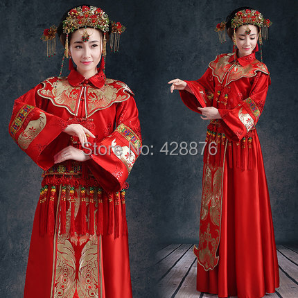ᗑZZB044 Bridal gowns Chinese style wedding dress new toast a ...