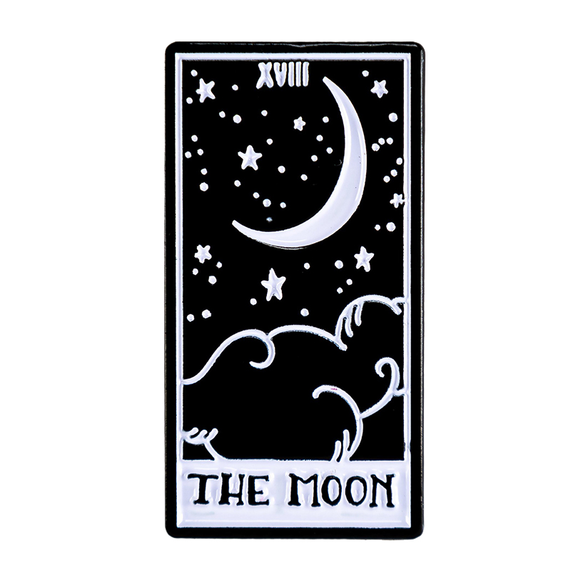 The Moon Tarot Card Enamel Pin
