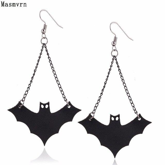 Fashion Jewelry Black Drop Strange Bat Earrings Animal New Dangle Earring Ear Jewellry Bijoux For