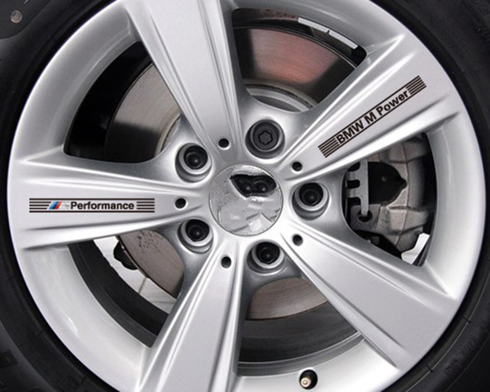 Elife Zone Co., Ltd Car-styling ///M Performance Car Rims Sticker and Decal Wheels Accessories for Bmw X1 X3 X4 X5 X6 M1 M2 M3 M5 M6 1 3 5series