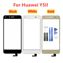 Para Huawei Y5 II Pantalla de Panel táctil para Huawei Y5 ii Pantalla de vidrio Y5ii Sensor de Digitalizador de pantalla táctil CUN L01 U29 L23 L03 L21 L22