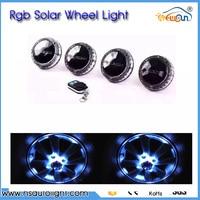 Solar Energy wheel hub light Colorful Car Tyre Light LED Wheel lamp conversion kit RGB Car warnling light car styling