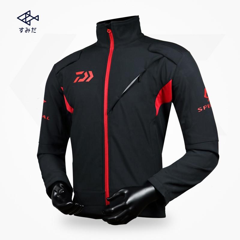 Windproof Daiwa Clothing Long Sleeve Stand Collar Full Zip Fishing Clothing Fishing Jersey Pesca Men's Clothing M L XL 2XL 3XL